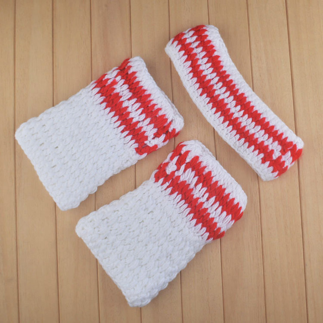 New Crochet Baby Boy Sweatband Tube Sock Photography Props Knitted