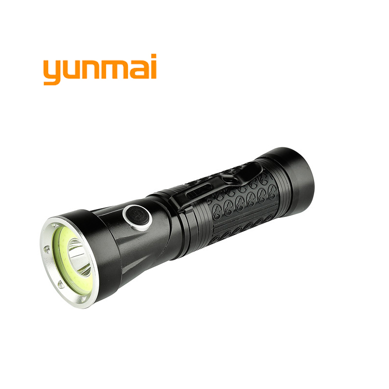 Ultra CREE XML T6+COB 5000LM Led Flashlight Waterproof Torch Lights for 18650 Rechargeab ...