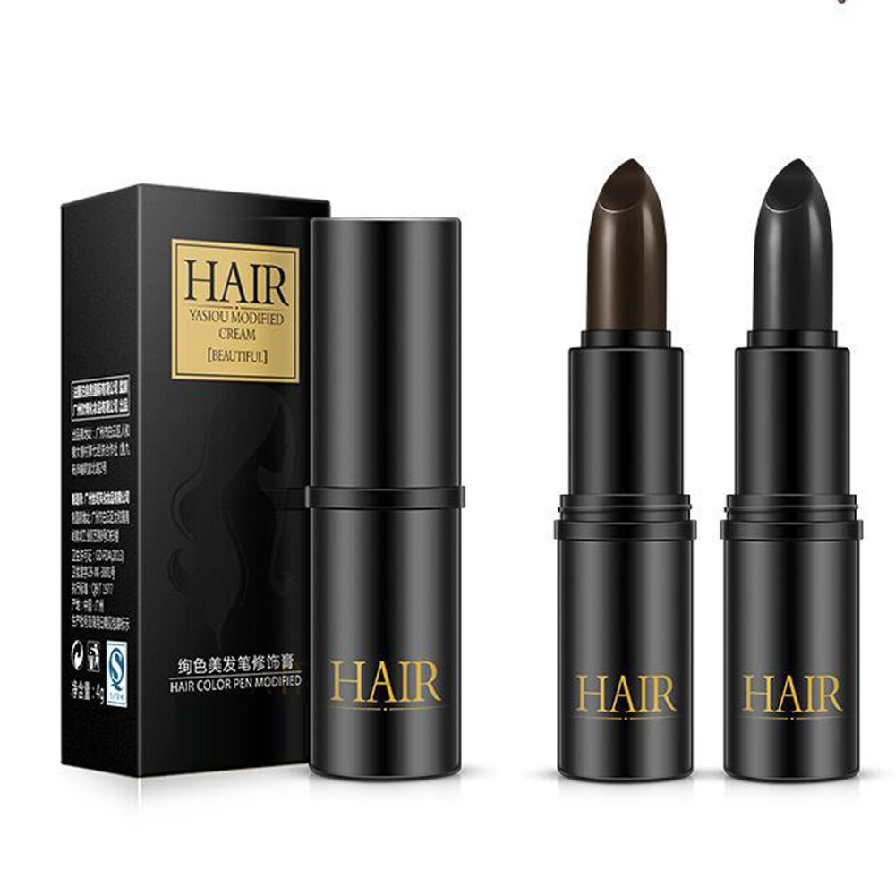 One-Time Hair Dye Cream Black Brown Long-Lasting Fast Mild One-off Color Pen White Hairline Cover DIY Styling Makeup