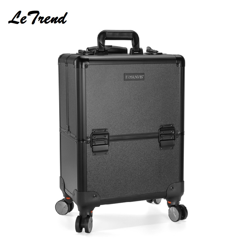 Professional Mackup Rolling Luggage Spinner Cosmetic Case Multi-function Trolley Carry On Suitcases Wheel Cabin Travel Bag