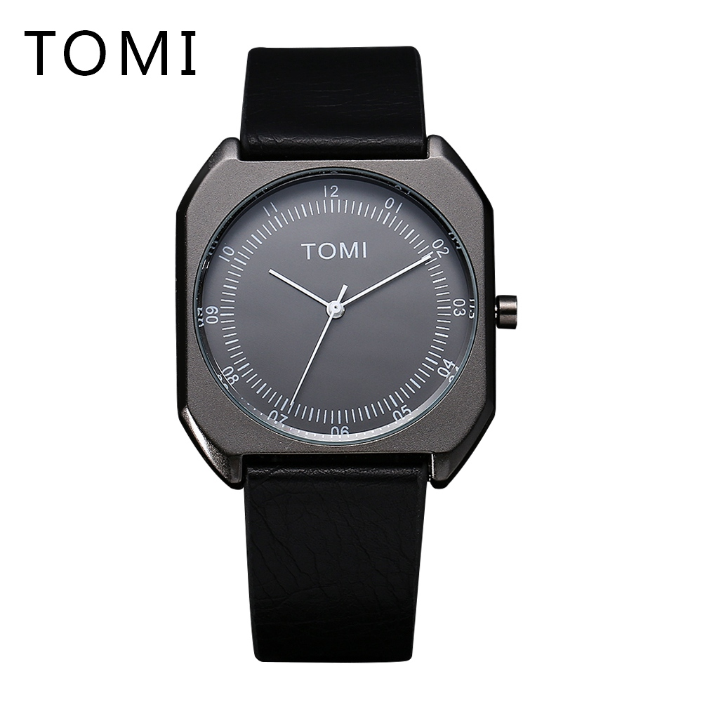 2017 Tomi Brand New Arrival Fashion Luxury Men Quartz Watches Leather Watchband Simple Dress Business High Quality Male Clock 2017 tomi new design men watch luxury brand watches quartz clock simple fashion leather cheap round wristwatch relogio male 10