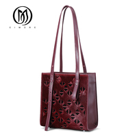 EIMORE Genuine Leather Women Bags With Feathers Luxury Brand Female Handbag Hollow Out Designer Women Shoulder Bags High Quality