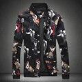 2017 Spring Jackets Mens Flower Printing Baseball Jackets Bomber Jackets Mens Luxury Brand Club Fashion Fancy Uniform Outerwear