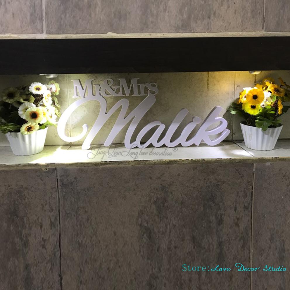 Mr and Mrs Wedding Sign Mr & Mrs Last Name Table Sign Wedding Decor