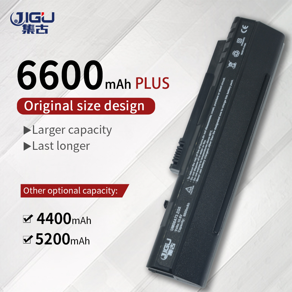 JIGU High Quality Laptop Battery FOR ACER ASPIRE ONE ZG5 KAV10 KAV60 D250 AOD250 Aspire One A150 Pro 531h BATTERY