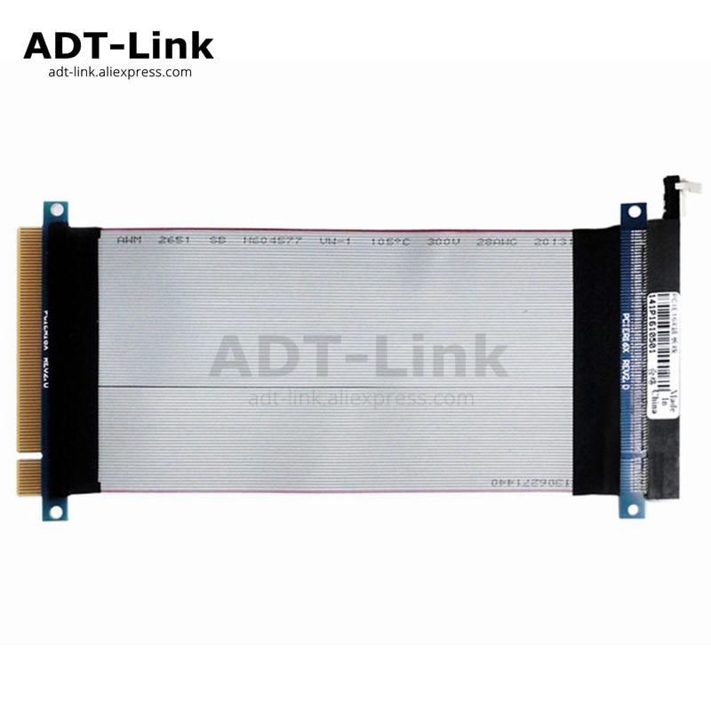 PCI Express 16X Riser Flexible Cable Male To Female PCIe X16 Extension 16X Riser Card Ribbon Extender Cable 20cm 25cm 30cm 35cm