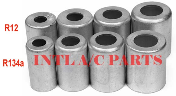 US $36 0 |Aluminum Crimp Ferrule for Auto A/C Air Conditioning Standard /  Reduced Barrier Refrigerant Hose #6 #8 #10 #12 (free shipping)-in