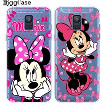 Mickey Minnie Phone Case For Coque Samsung Galaxy A5 A520 S6 S7 Edge S8 S9 Plus J3 J5 J7 2017 J4 J6 A6 A8 Plus 2018 Mickey Cover(China)