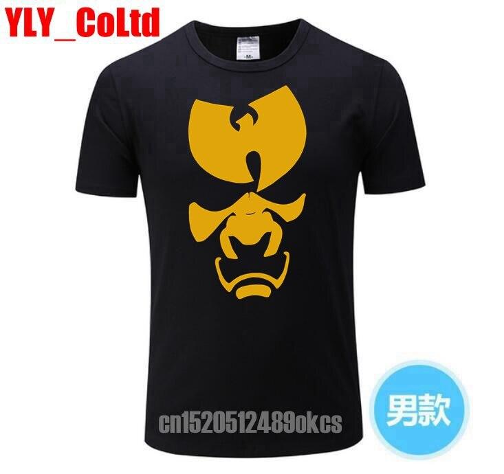 2019 WU TANG CLAN mannen   t  -  shirt   zomer merk tee   T     shirt   MANNELIJKE   T  -  shirt   Bloem Rap stijl WUTANG Hiphop top tees TShirt