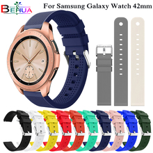 20mm Soft Silicone Watch Band for samsung Gear Sport S4 S2 Replacement Smart Watch Wristband For Samsung Galaxy Watch 42mm Strap superior soft silicone strap replacement watch band lugs adapters for garmin approach s2 s4 smartwatch nov 30