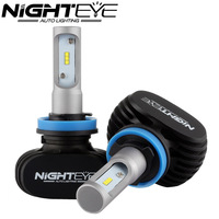 NIGHTEYE H11 50W 8000LM 6500K CSP LED Car Headlights Conversion Kit Fog Lamp Bulb DRL Super