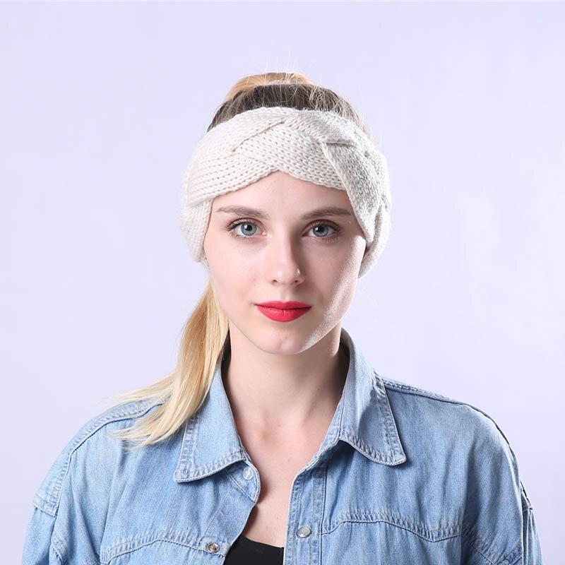 Winter Warm Knitted Headband Twisted Crochet Stretch Chunky Headwrap for Women Girls -MX8