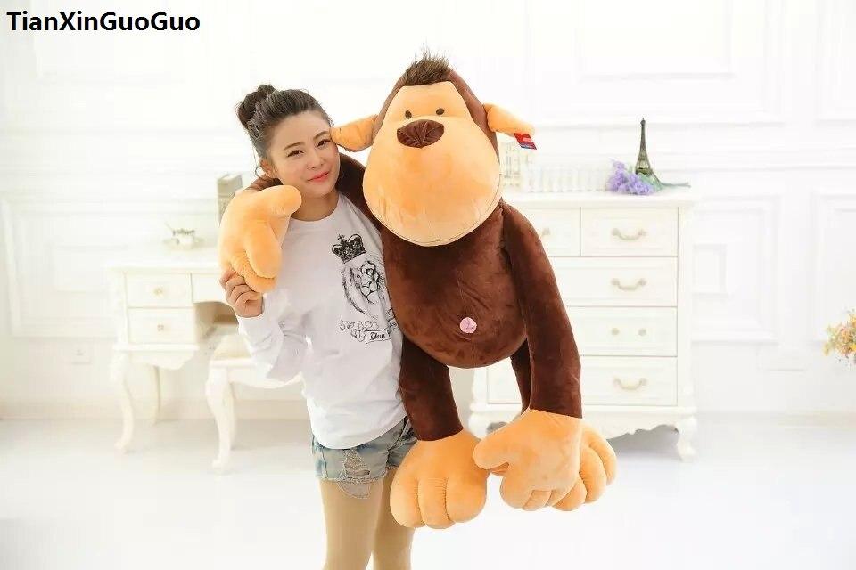 stuffed toy large 85cm font b cute b font monkey plush toy cartoon jungle monkey soft