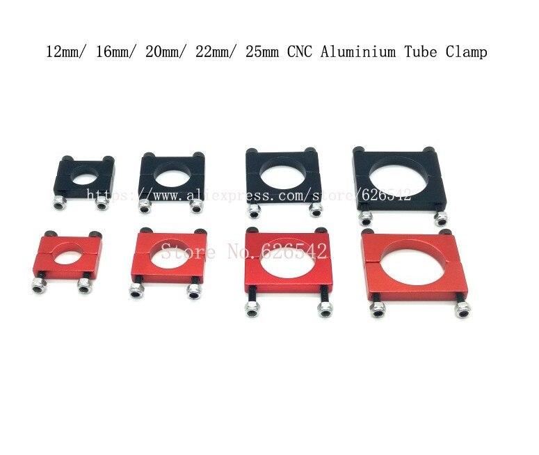 20 ensembles de 12mm/16mm/20mm/22mm/25mm CNC Tube En Aluminium Pince Moteur Montage clip de fixation pour multi-axes Aéronef à voilure Fixe