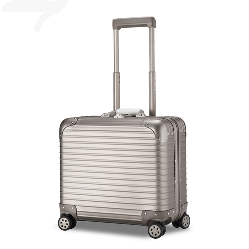 16/18 inches Aluminum Spinner Luggage Carry-on Cabin TSA Scratch Resistant Travel trolley Rolling luggage mala de viagem koffer