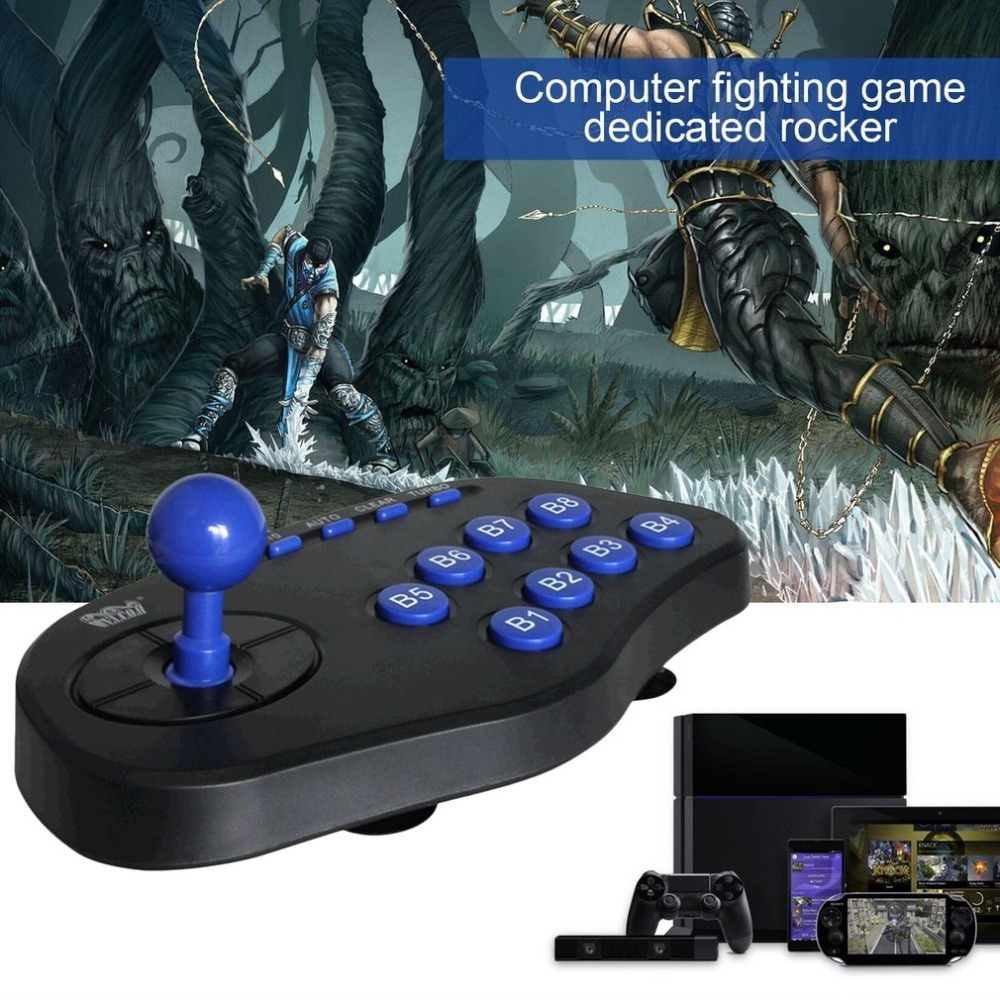 USB PC Street Fighter Joystick Double Shock Arcade Game Stick Gamepad Controller Gaming Game Pad For Windows XP/9x/2000