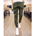 2015 Summer Active Style Mens Calf-Length Joggers Pants Sweatpants Slim Pencil Pants Men Hip Hop Harem Pants Army Green Trousers