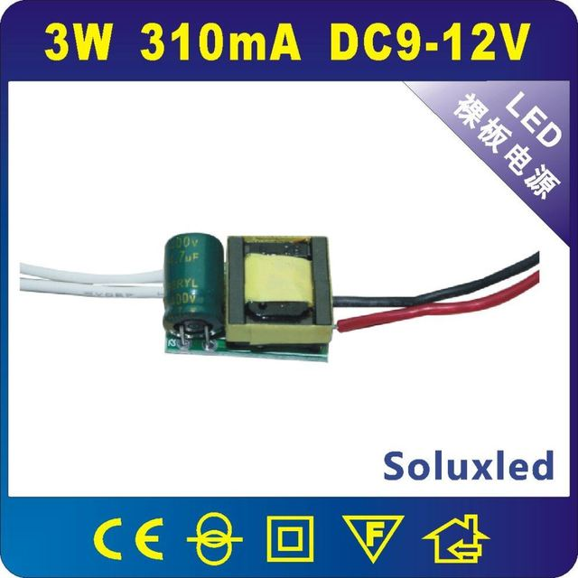 Free shipping GU10/E27 3W led driver single/lot sale one year garrant