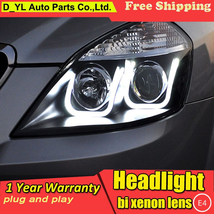 D YL Car Styling for Excelle Headlights 2008 2013 Excelle LED Headlight DRL Lens Double Beam