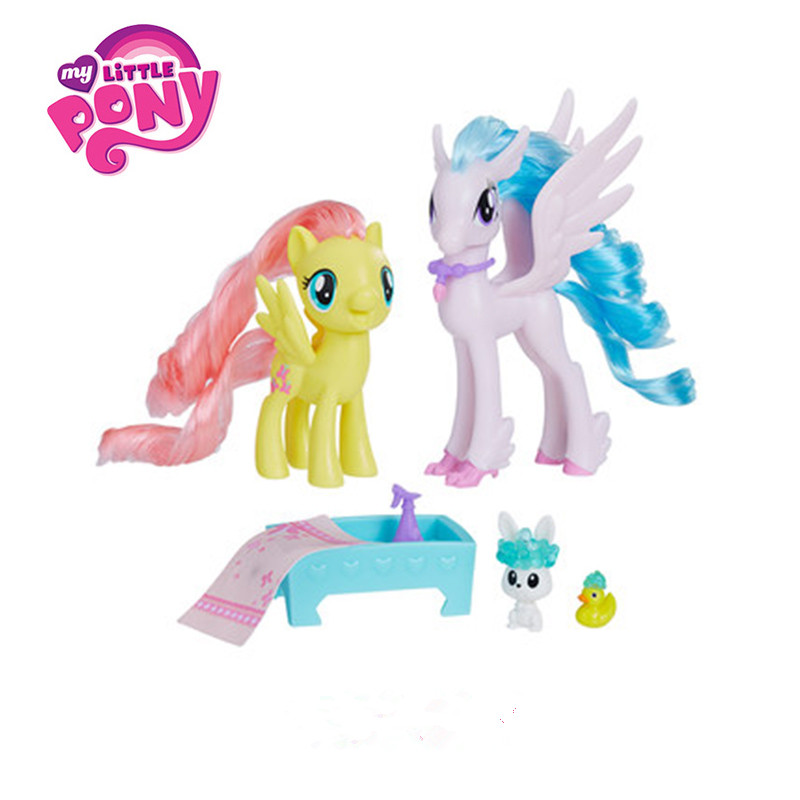 Hasbro My Little Pony Friendship Is Magic Movie Figure Set Toy PVC Action & Toy Figure Collection Model Dolls For Children my little pony toys the movie princess cadance celestia pvc action figure friendship is magic model doll glitter celrbration
