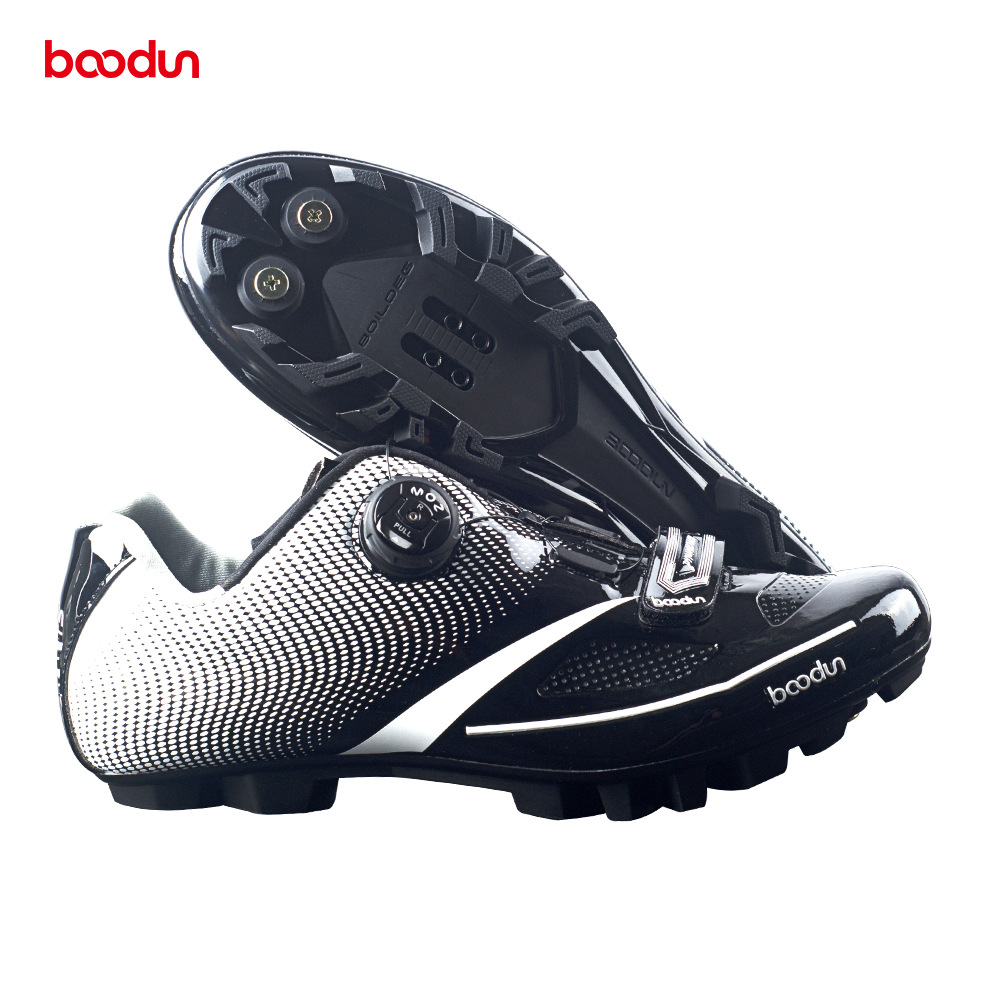 BOODUN Men Women Cycling Shoes Ultra light carbon fiber Sole Reflective Bike Shoe Mountain Road MTB
