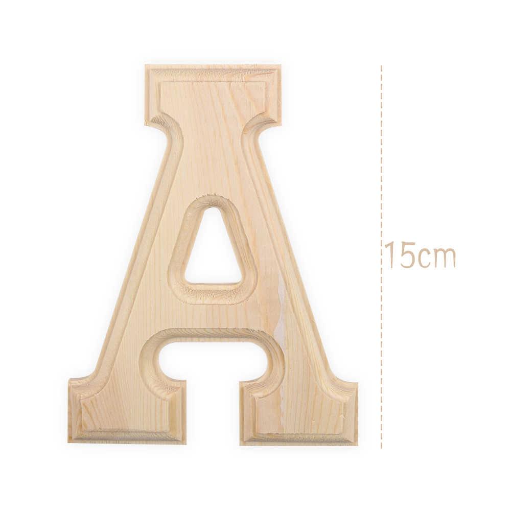 Высота 15 см 26 отдельно стоящий деревянный буквы Белый Алфавит Свадебная вечеринка украшения дома клей наклейки на стену рукоделие