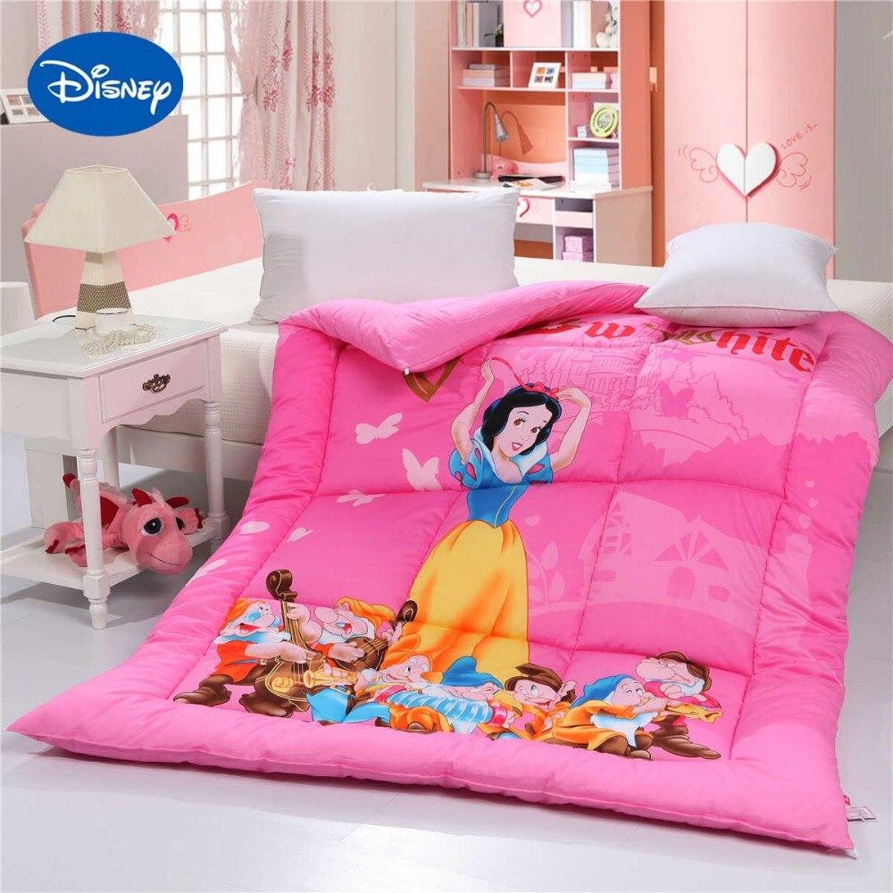 мультик белоснежка и 7 гномов дисней 2 - Snow White and the 7 Dwarfs Disney Cartoon Bedding Single Twin Queen Size Comforter Quilt Cotton Fabric Autumn Winter Deep Pink