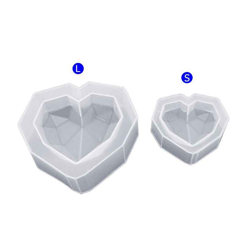 Silicone Mold Geometric Heart Shape DIY Jewelry Making Epoxy Resin Molds Handmade Pendant Irregular Ornaments Accessory S/L