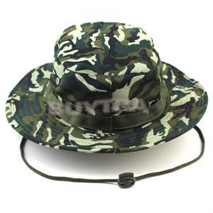 Outdoor Military Camping Hiking Camo Bucket Hat Cover Wide Brim Sombrero Army  Camouflage Sunshade Hats Camuflaje Cap 062fbe08f50a
