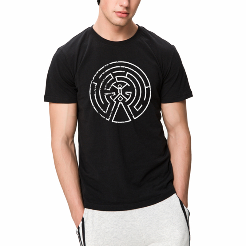 2017 New Fashion Westworld Maze Men Cotton T Shirts Short Sleeve O-neck West World Dolores Male Summer Casual T-shirt Top Tees