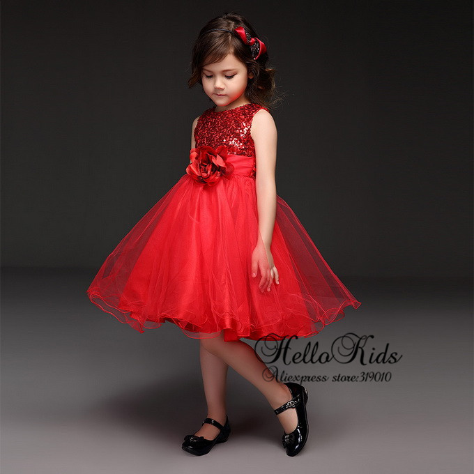Aliexpress.com : Buy Newest Kids Party Tutu Dress Red Sequins ...