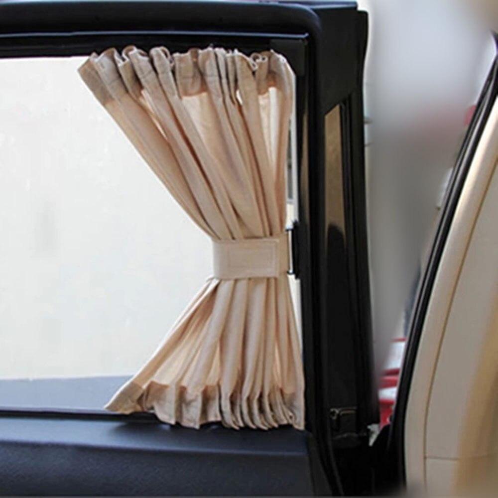 Hot Sale 2pcs 50L 50x45cm Car Sunshade Window Curtain