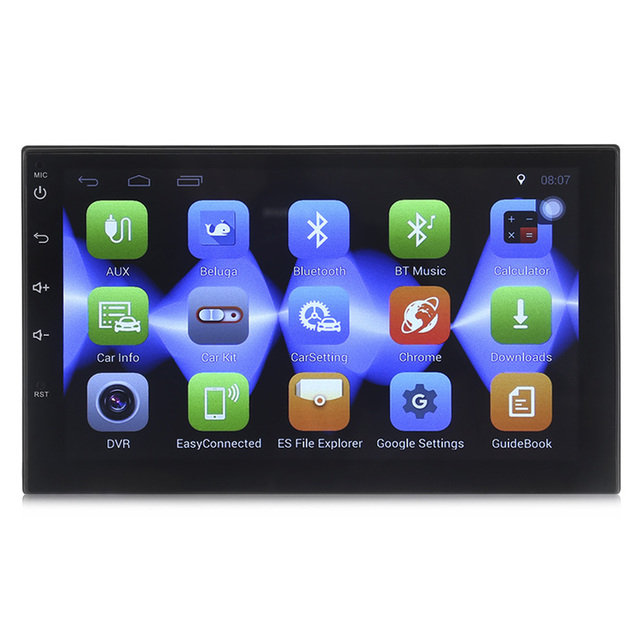 Zeepin 7002 Car Mp5 Multimedia Player 7 Inch 2 Din Android 6.0  1024 x 600 HD Camera Touch Screen GPS Wifi Bluetooth Supply