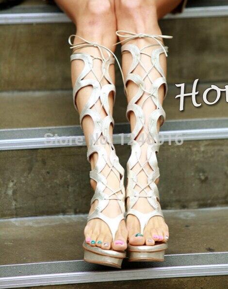 Aliexpress.com : Buy 2015 Luxury Brand Women 10cm High Heel wedges ...
