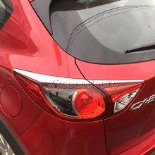 Для 2013-16 Mazda CX5 CX-5 фонарь задний фонарь век Обложка для укладки отделкой 4 шт. chrome автомобиля стиль