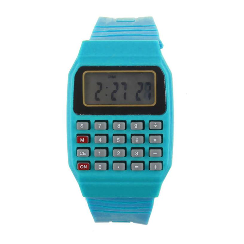 Unsex Silicone Multi-Purpose Date Time Electronic Wrist Calculator Watch Students Casual Pratical Boys Girls Watches Clock A60