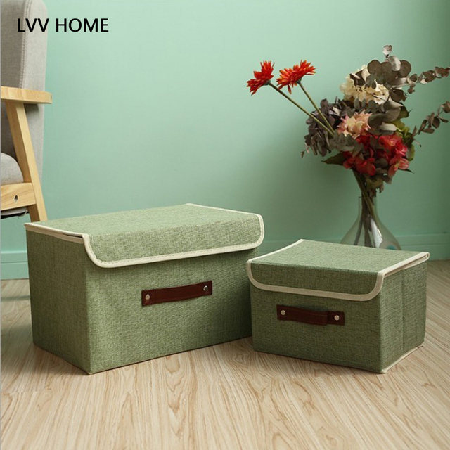 LVV HOME Dust Proof Linen Storage Box/thickening Lamshell Books Sundries  Finishing Tool Toy