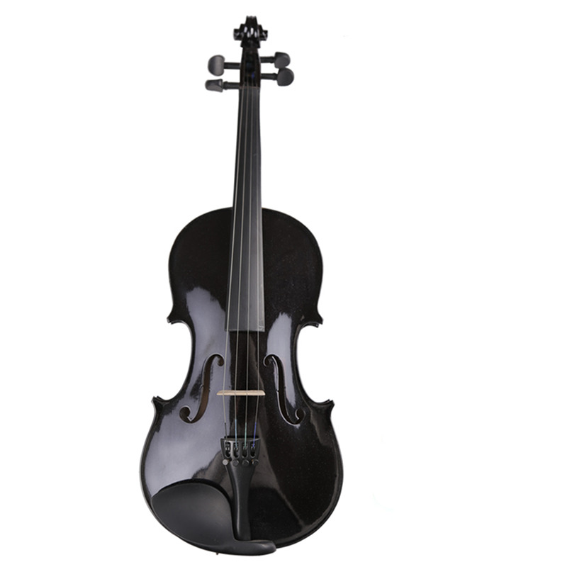 Full Size 4/4 Violino Fiddle High Quality Student Beginner Black Violin w/ Case Bow Rosin Full Set Accessories Free Shipping new high quality violin 4 4 fiddle full size 100