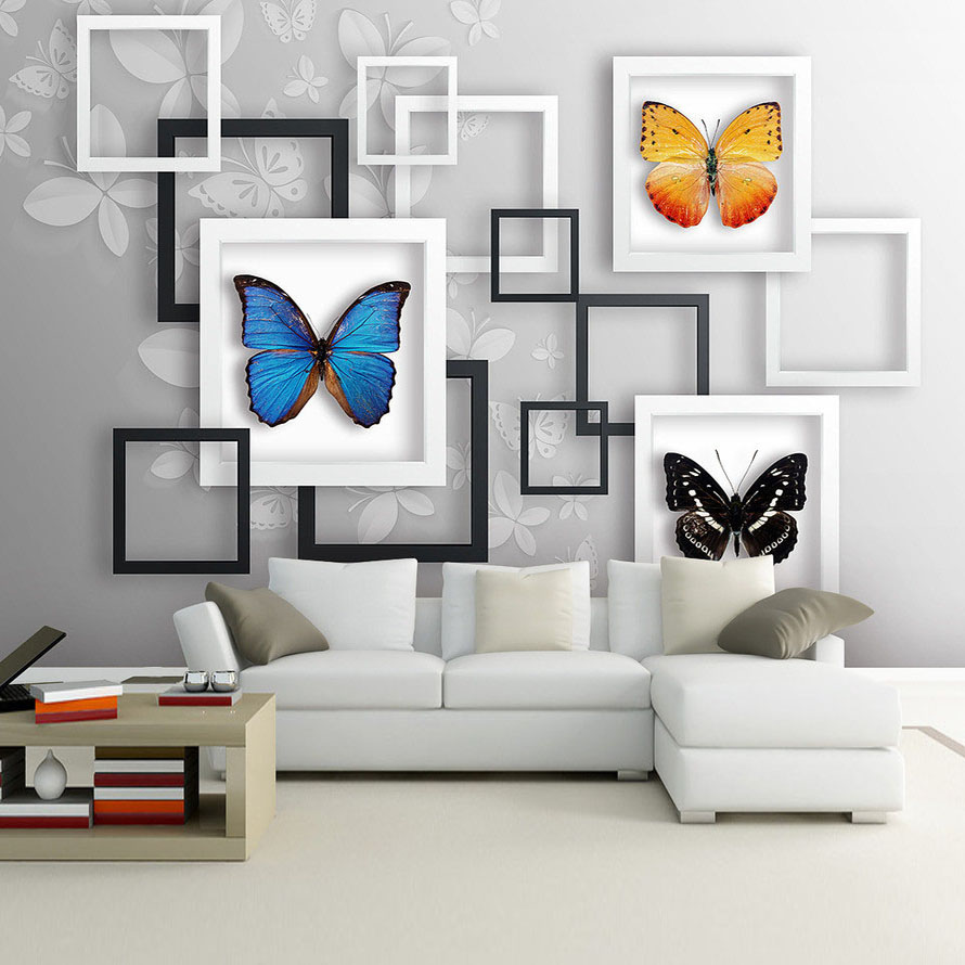 Photography Wall Art Home Decor ~ Art frame butterfly photo mural living room bedroom office