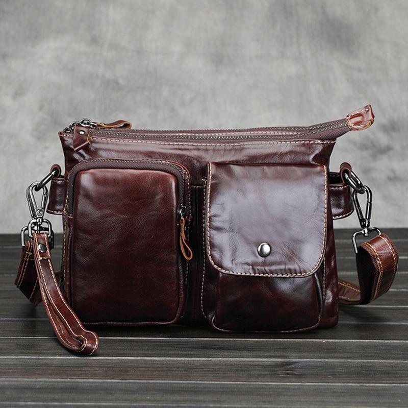 Fashion Genuine Cow Leather Wristlet Hand Bag Men Messenger Bags Designer Man Crossbody Shoulder Handbags borse High Quality genuine leather messenger bags cow