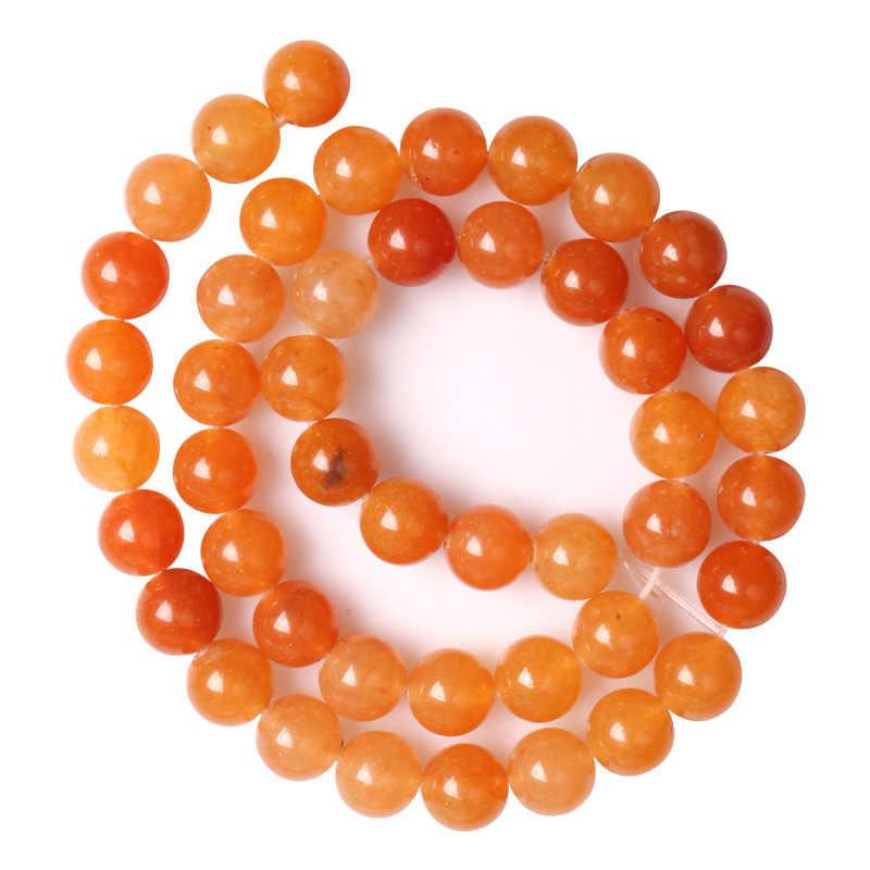 100% perlen Naturstein Rot Aventurin Runde Lose Perlen 4 6 8 10 12 MM DIY Mode Perlen Für Schmuck machen Frauen Zubehör