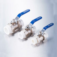 Good Quality 1 2 To 2 Inch Size Of Brass Material Water Pipe PPR Ball Valve