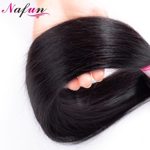 Image 5 - NAFUN Peruvian Straight Hair Bundles With Lace Frontal Human Hair Bundles With Frontal Non Remy Hair Extensions Middle Ratio