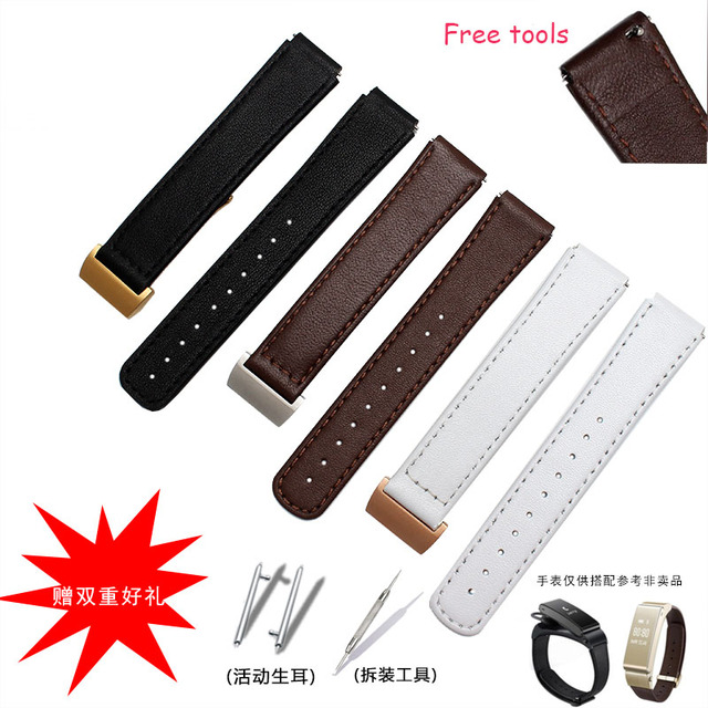High Quality Genuine Leather Watchband For Huawei B2 B3 Original Strap 15mm 16MM