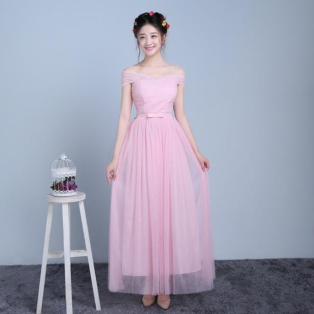 ZX-F3FS # True foto de nieuwe lente en zomer 2016 regiment jurk mode goedkope bruidsmeisjekleding zusters grijs violet roze