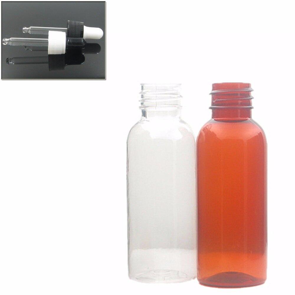 30ml Empty Amber/transparent Pet Bottle With Black/white Dropper Cap, Dropper Bottle