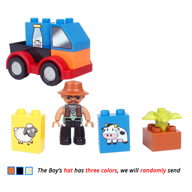 UMEILE-16-Style-Original-Classic-Big-Building-Block-Cowboy-Cake-City-Girl-Figure-Kids-Toys-Compatible-with-Duplo-Christmas-Gift-2