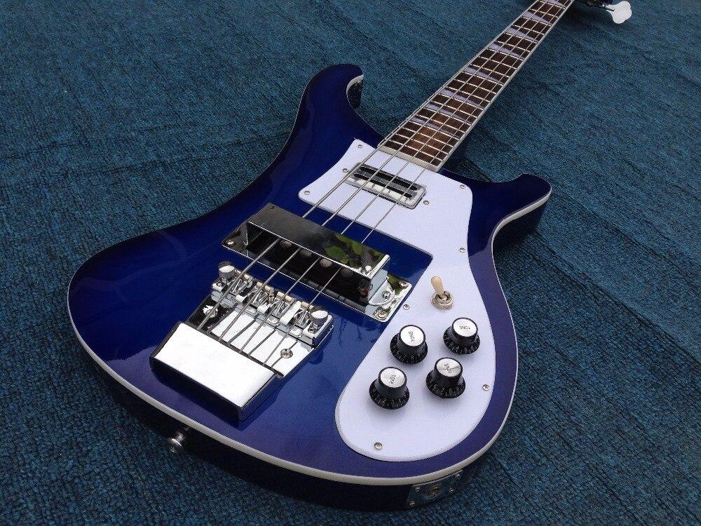 Good Sound Hot Sale New Arrival 2016 Rick-bucker 4003 Fireglo Electric Bass Guitar G15-05 Blue Color