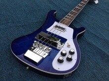 цена на Good Sound Hot Sale New Arrival 2016 Rick-bucker 4003 Fireglo Electric Bass Guitar G15-05 Blue Color