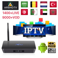 Best French IPTV Box V96 mini Android TV with 1200+ 1 Year Europe France  Arabic Africa Morocco football Smart IP